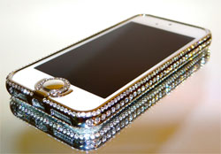 Чехол со стразами для Iphone 5 S VIP STRASS LUXUS Rahmen ALU Aluminium